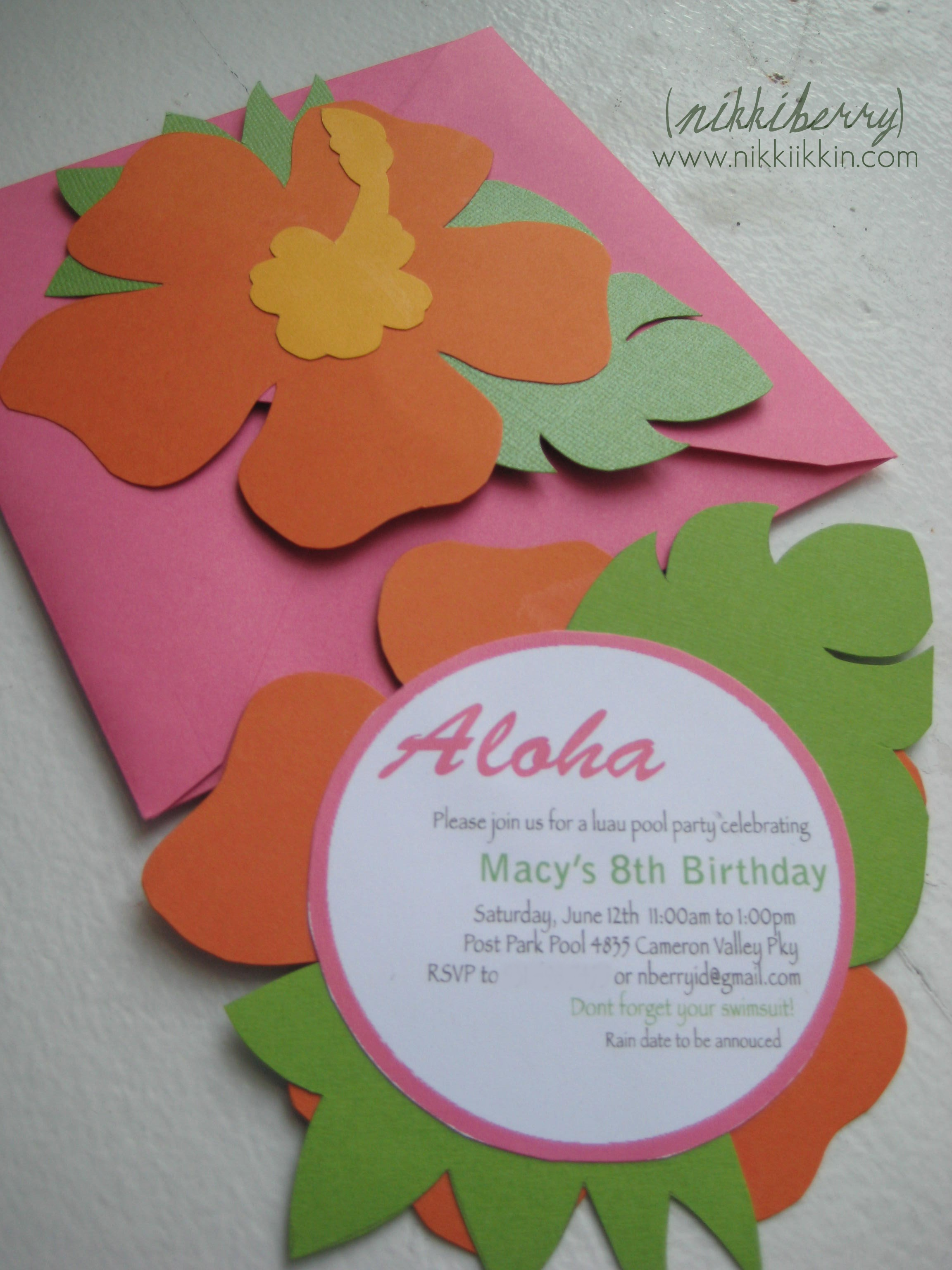 Hawaiian Themed Invitations with best invitations template