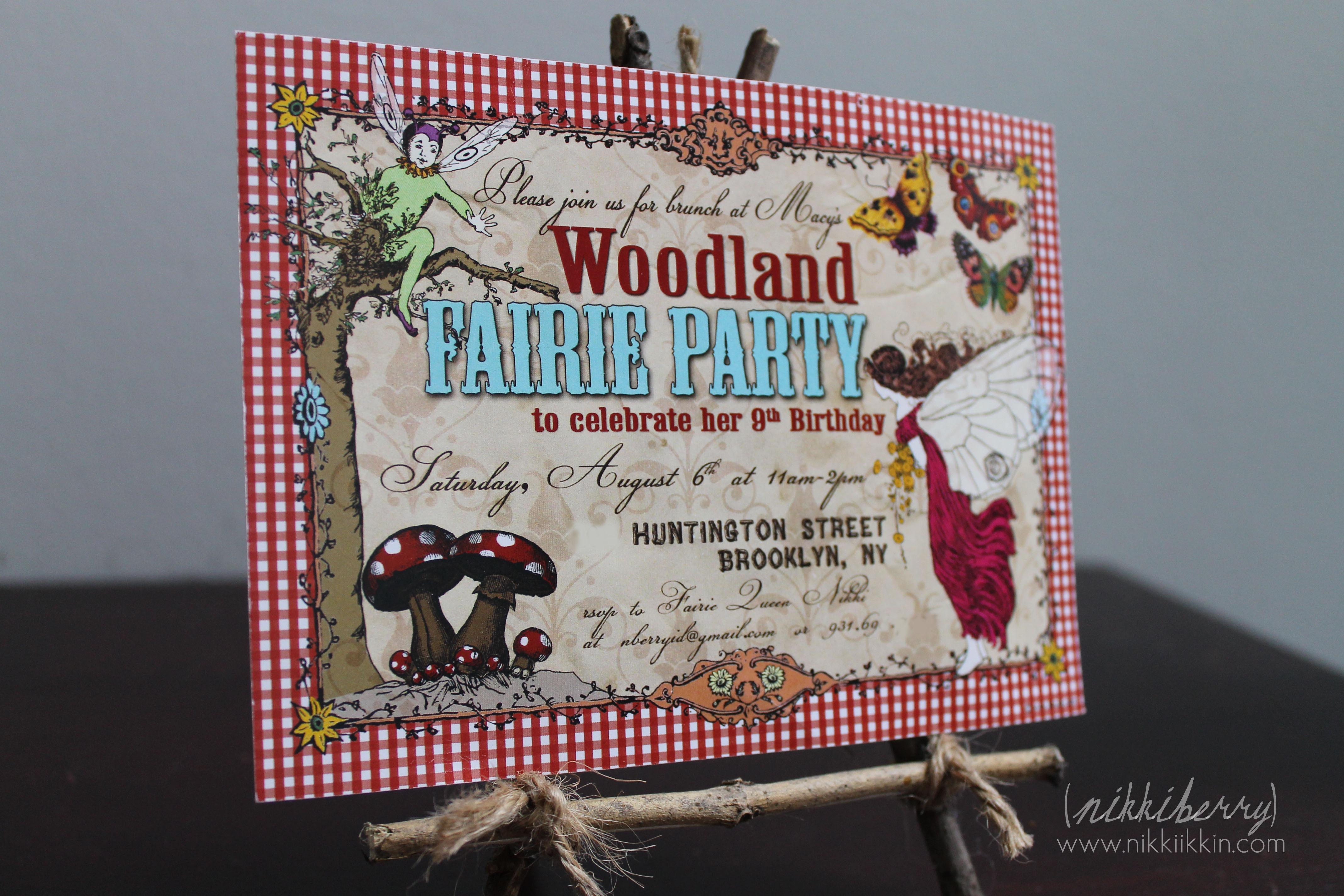 Nikkiikkin Woodland Fairy Invitation
