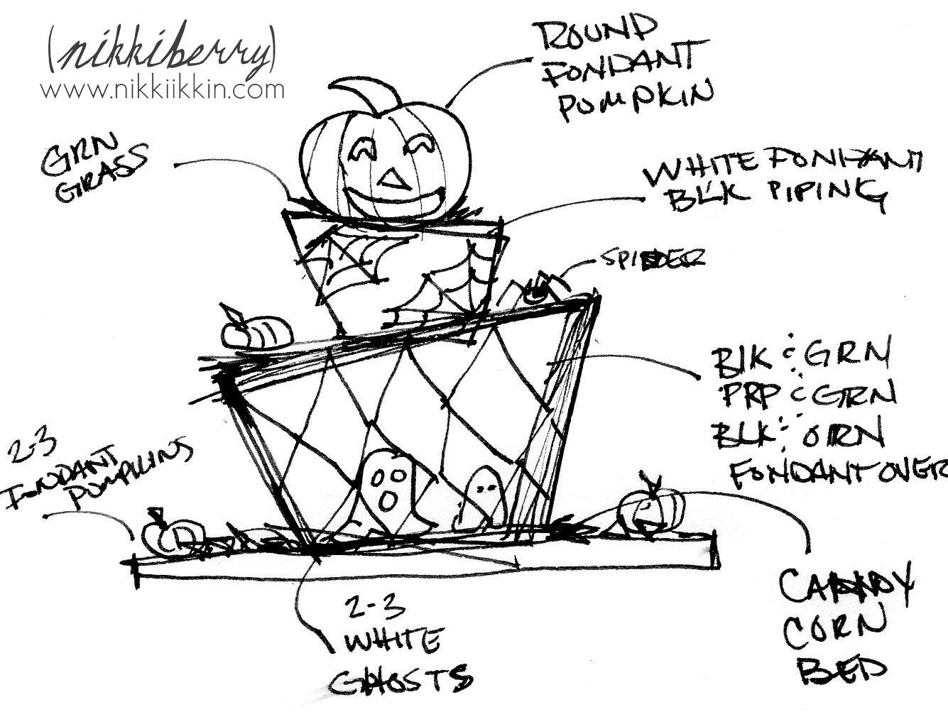 halloween madhatter cake  