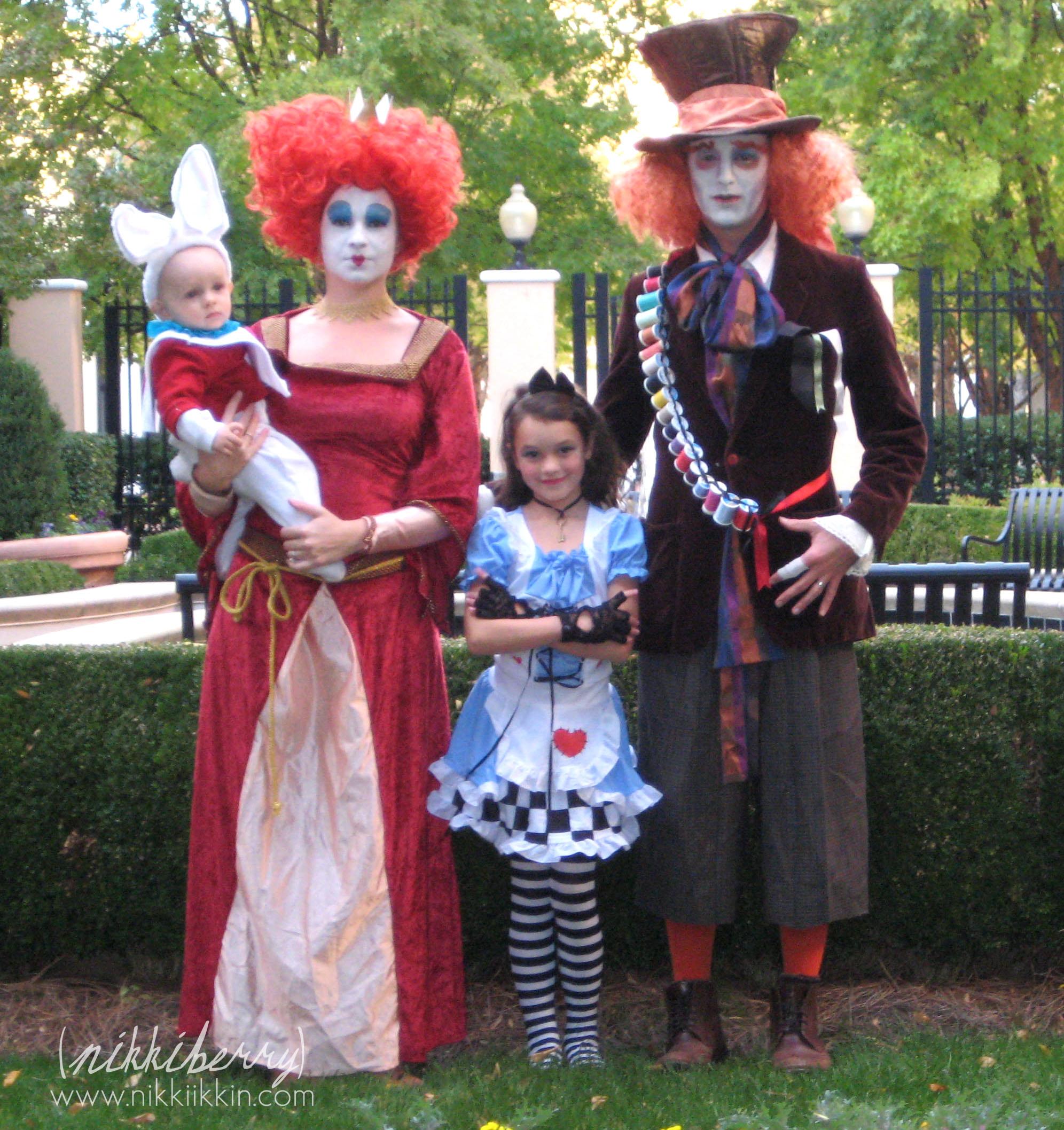 Alice in Wonderland Halloween Costume Family