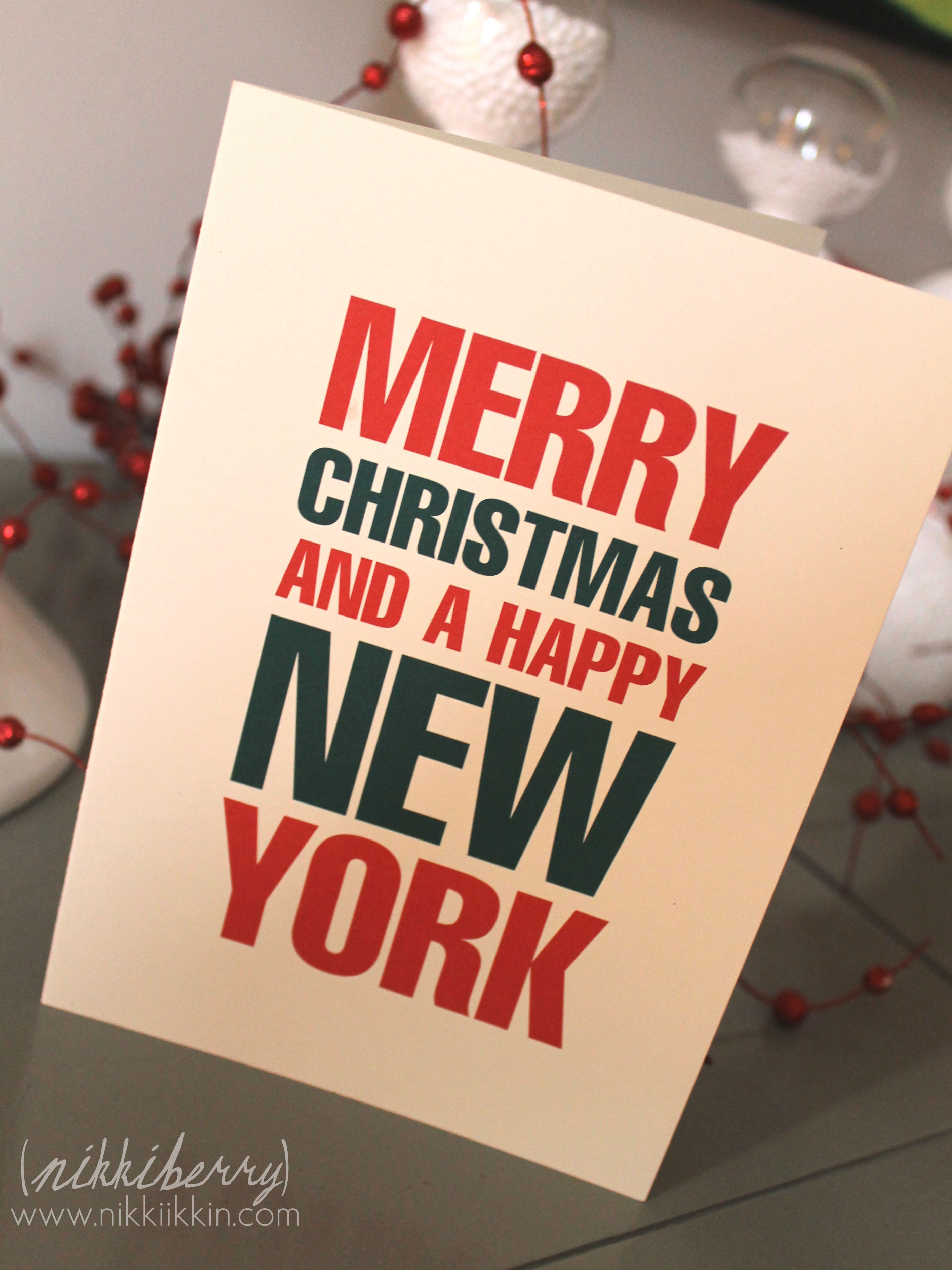 Merry Christmas and a happy New York! |