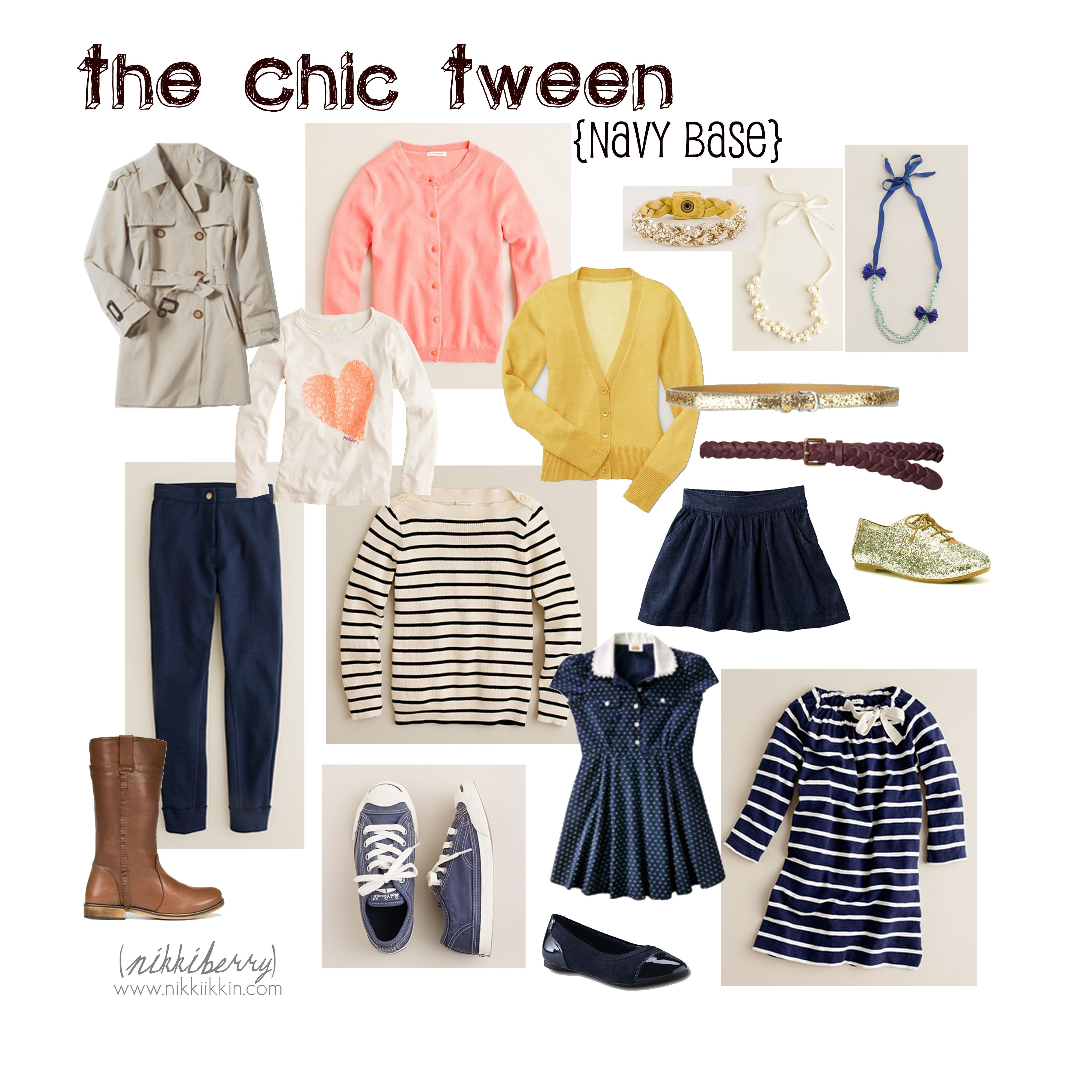 the chic tween   navy base collection