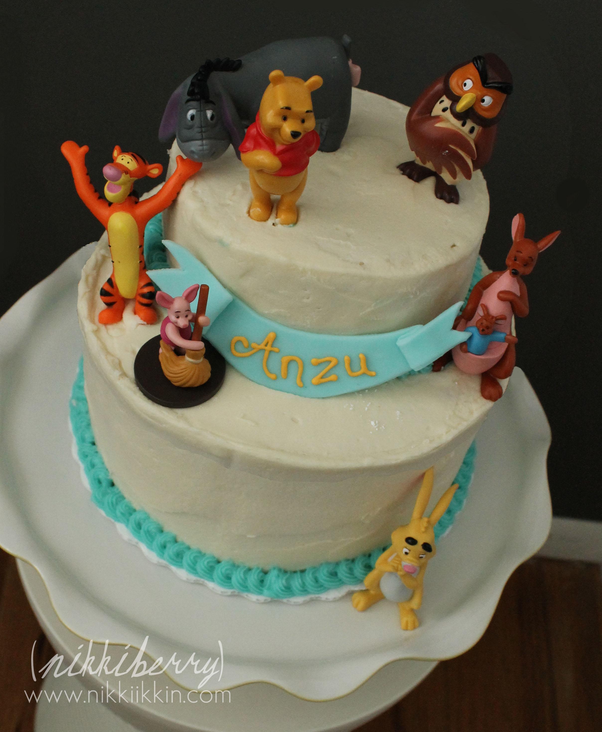 Winnie The Pooh And Owl Too Cake And Cookies