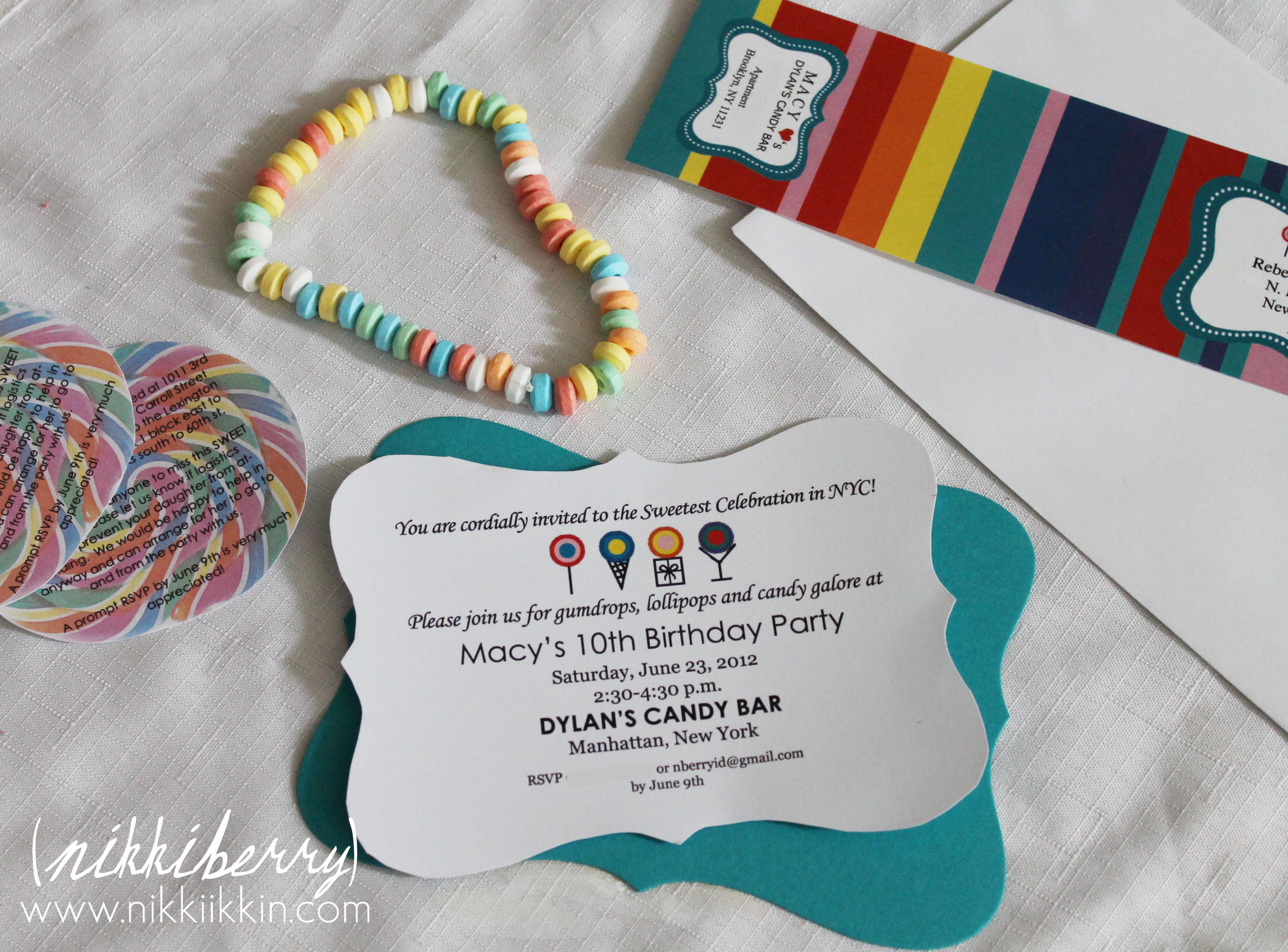 Dylan\'s Candy Bar Invitation |