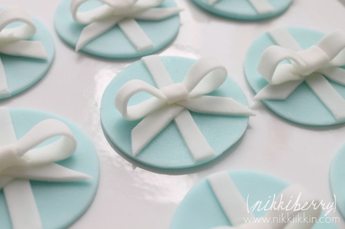 Tiffany and Co. Bow Cupcake Toppers