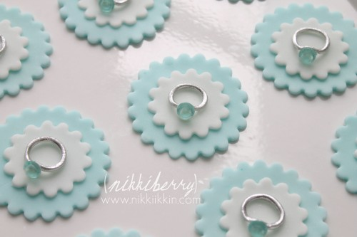 Tiffany and Co. Sugar Gem Cupcake toppers