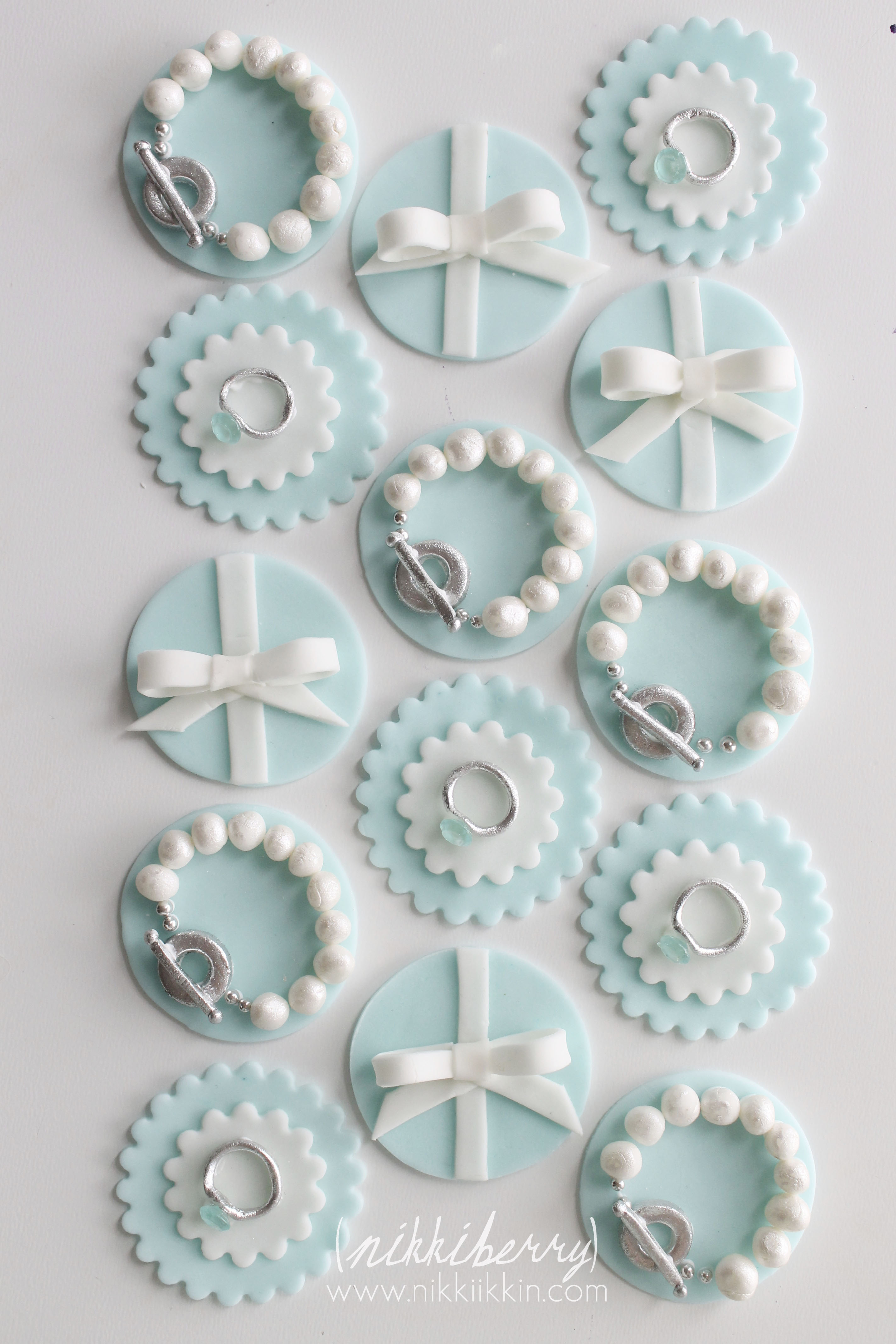 Tiffany Cupcake Toppers
