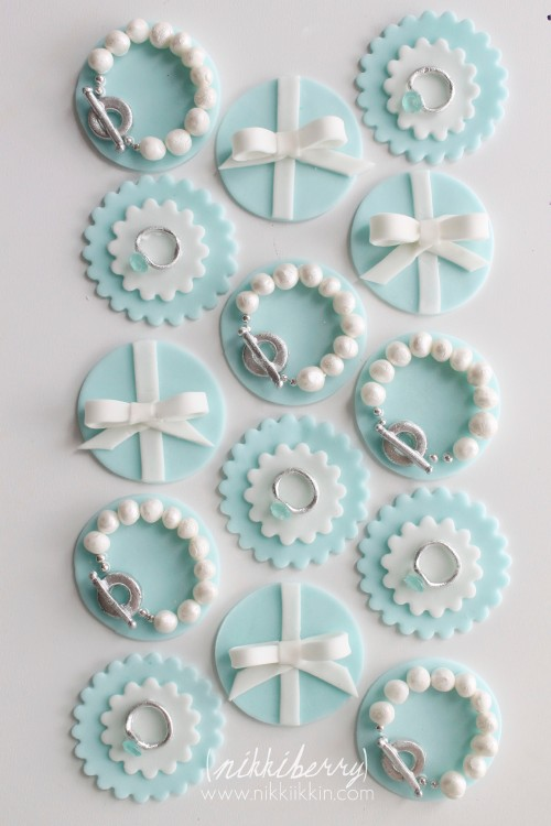 Tiffany and Co. Cupcake Toppers by Nikki Berry