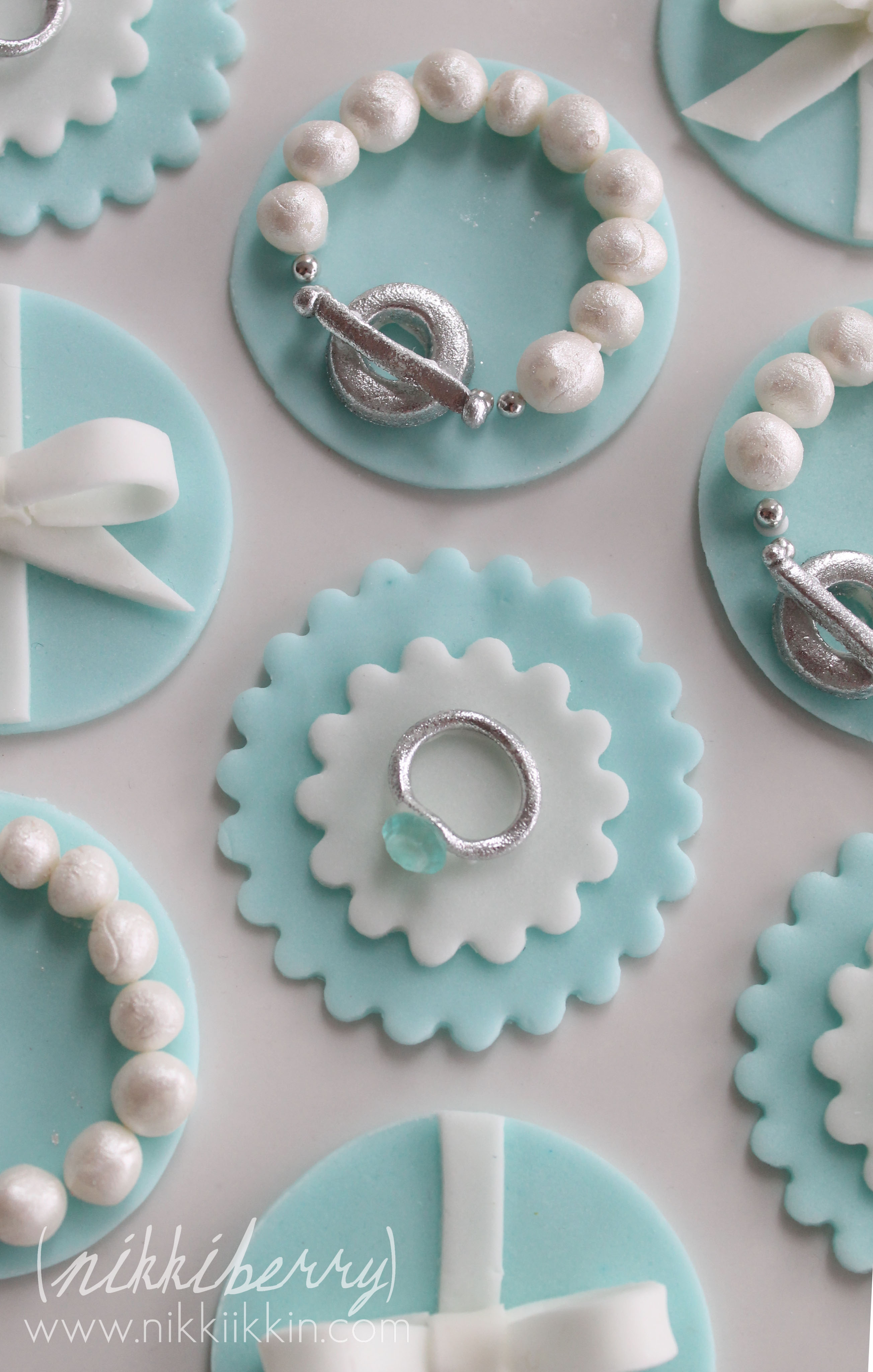 a1c22eca678 Tiffany and Co. Cupcake Toppers and Cookies