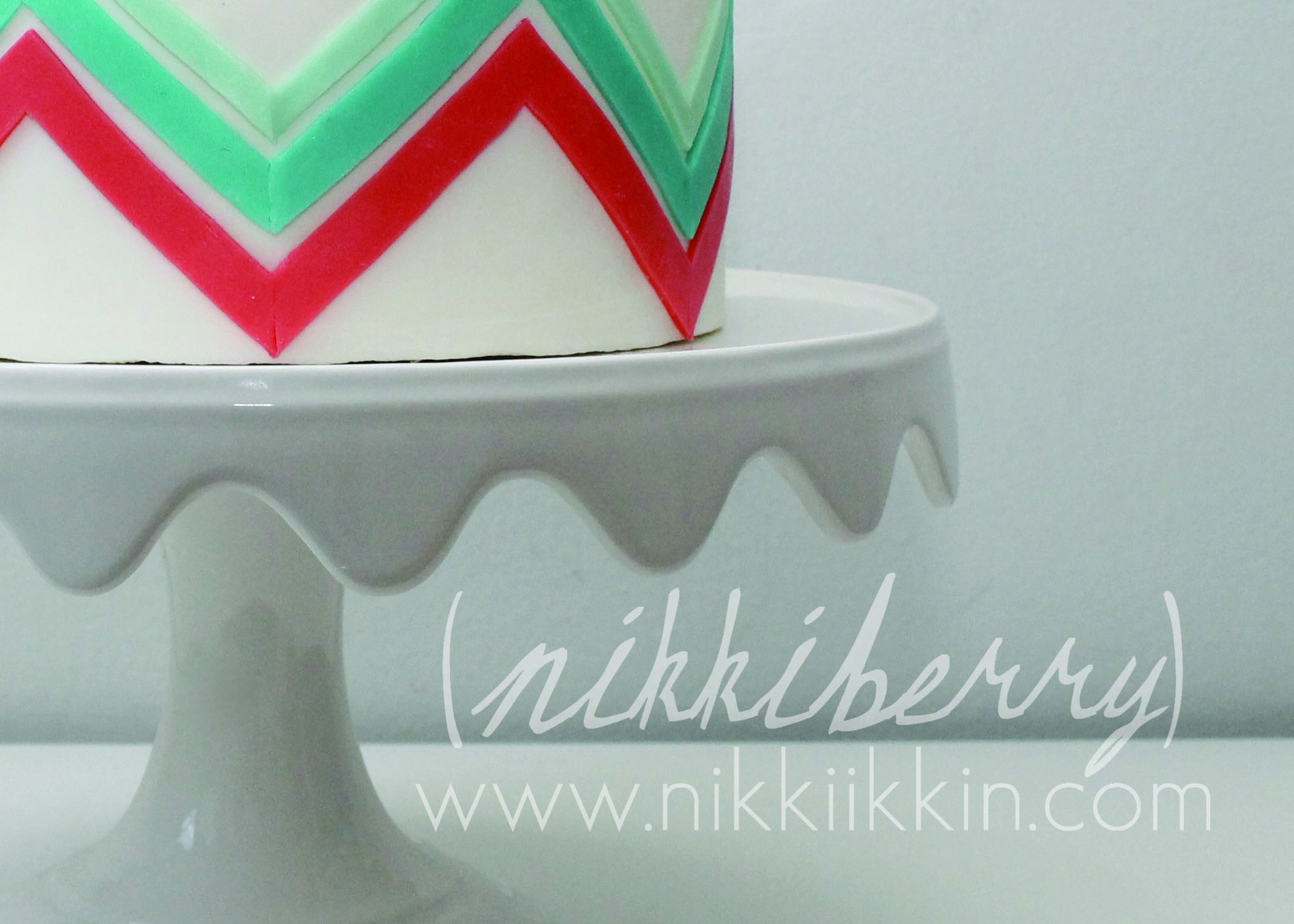 Cake Decorating Zig Zag : Zig Zag Cake
