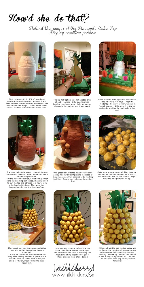 pineapple cake pop display how-to 1